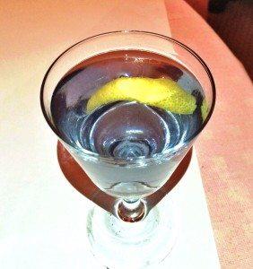 Blue Moon cocktail at Cherche Midi