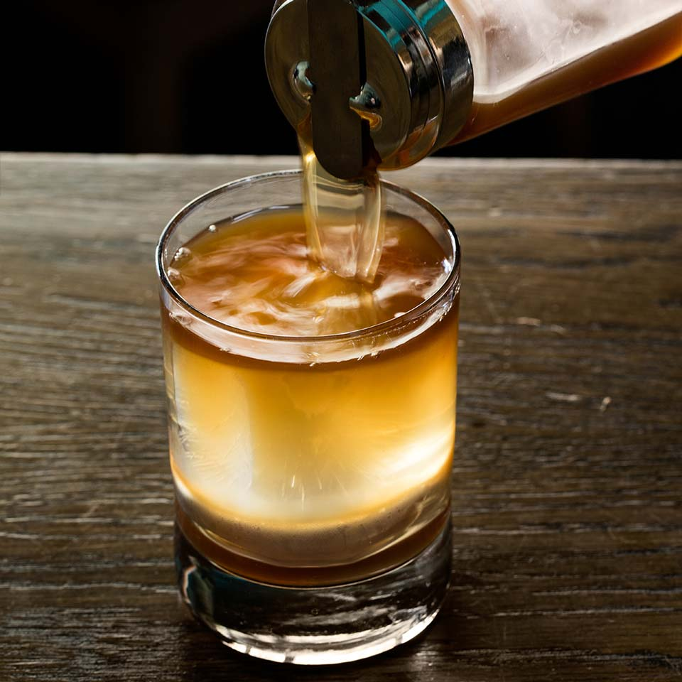 Drink of the Week FlapJack Old Fashioned Pouring Ribbons