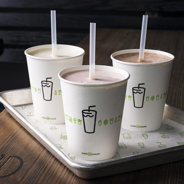 Black and White Milkshake Shake Shack
