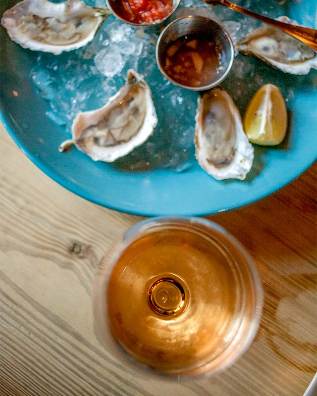Rosé and Oysters at Tavern on Jane