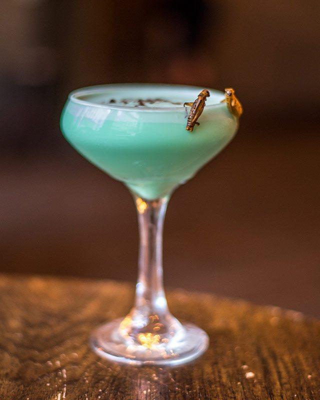 Grasshopper at Hardings Halloween Cocktails