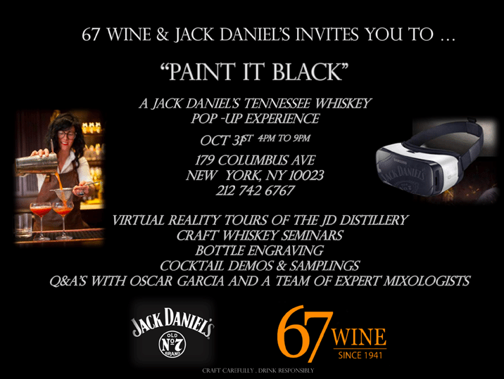 Jack Daniel's Paint it Black Invite