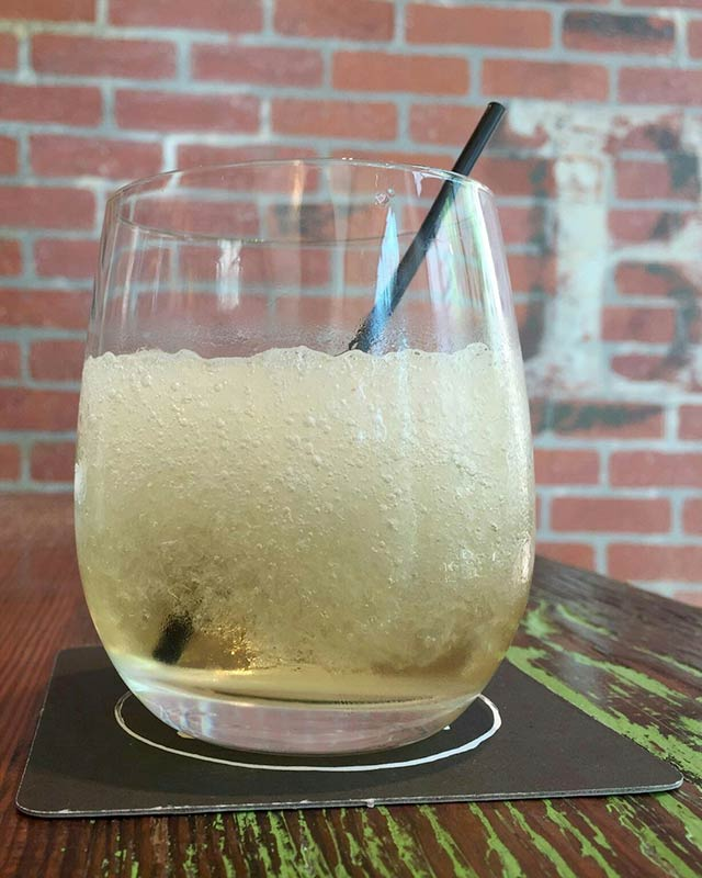 Boozy Cider Slushie at Willa Jean