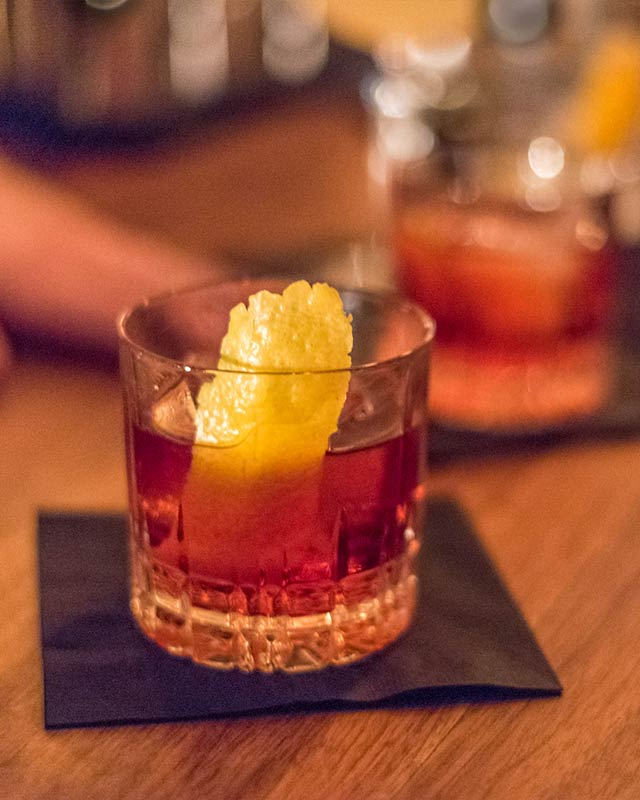 Barrel Aged Negroni at Analogue Village