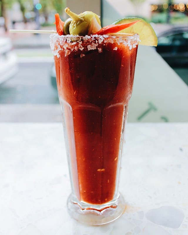 Black Pepper Black Peppercorn-infused Bloody Mary Original Dinerant in Portland