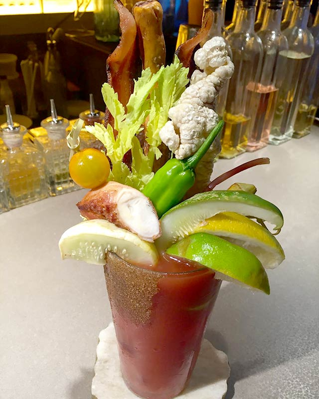DIY Bloody Mary at Kingsley