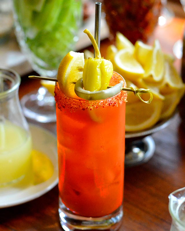 DIY Bloody Mary at Bar Saxon + Parole