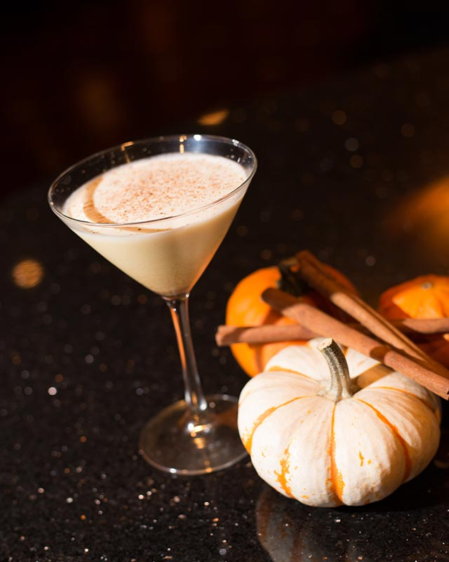 Pumpkin Spiced Latte Martini at Del Friscos