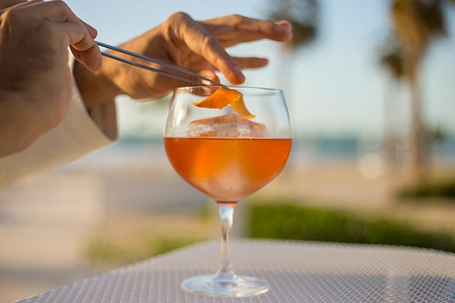 Bubbly Negroni at Nikki Beach Resort Dubai