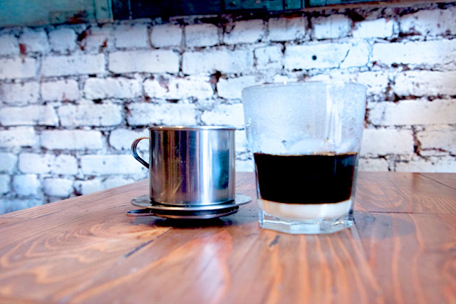 Vietnamese Drip Coffee with Coconut Milk