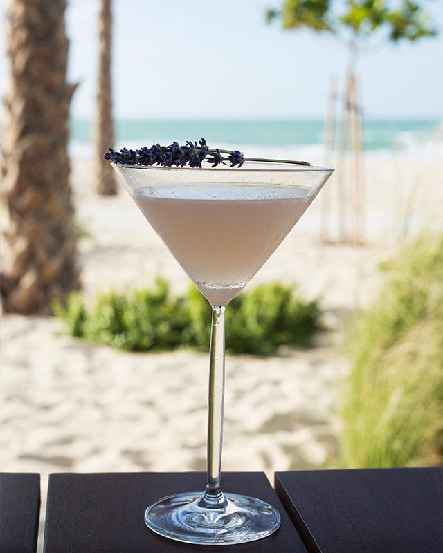 Lavender Martini at Nikki Beach