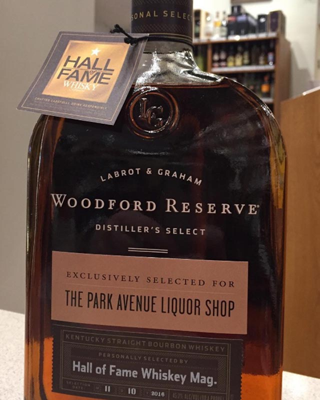 woodford reserve private bottling Park Avenue Liquor Shop