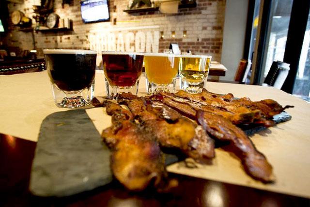 Beer Flight at BarBacon
