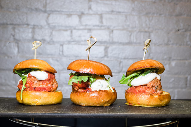 Meatball Sliders at Adoro Lei TriBeCa
