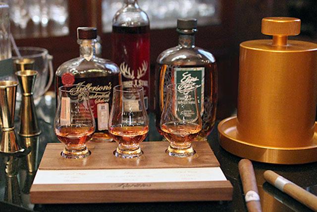 Whiskey Flight at Rarities