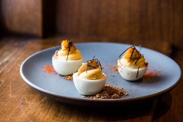 Uni Deviled Eggs at BoardRoom