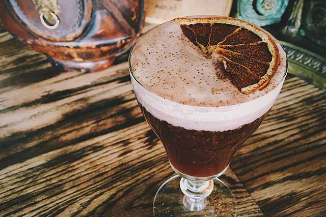 Mezcal Irish Coffee at The Corner Door LA