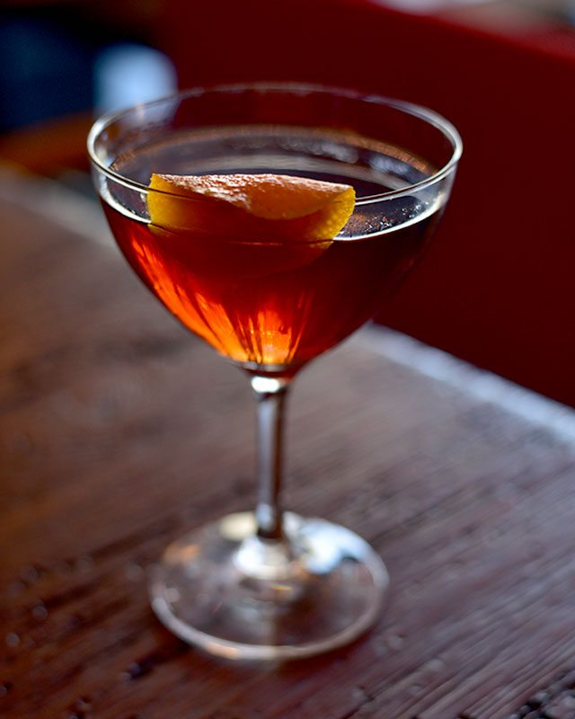 Duck Fat Boulevardier at 33 Greenwich