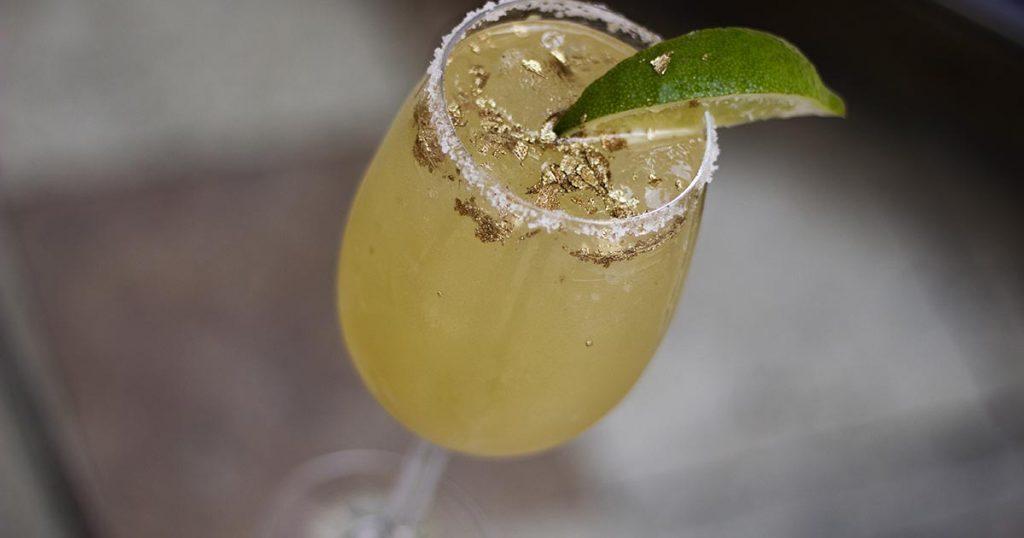 24 Karat Golden Margarita at Villa Casa Casuarina Miami