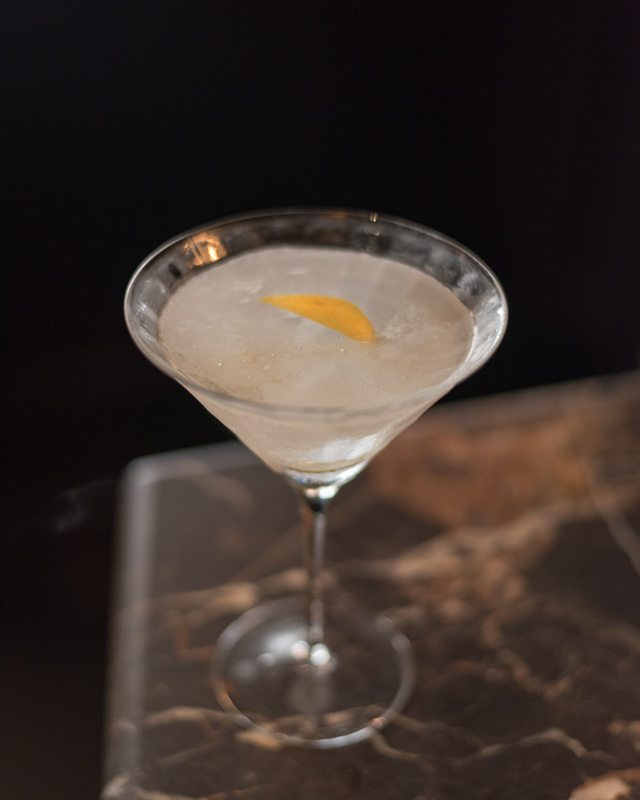 Absolut Elyx Vodka Martini at Del Posto National Martini Day