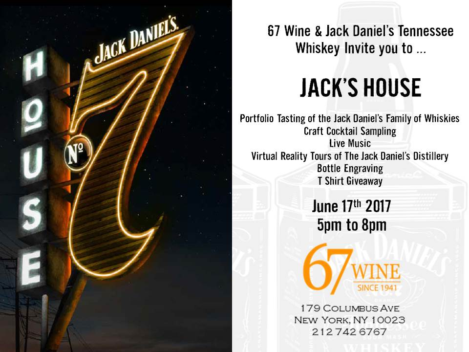 Jack's House Pop up at 67 Wine