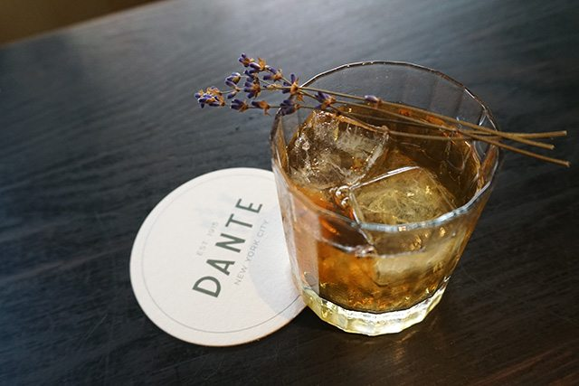 Lavender Negroni at Dante Negroni Week