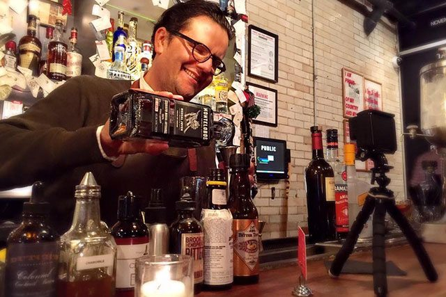 Nacho Jimenez Pouring Mezcal at The Daily