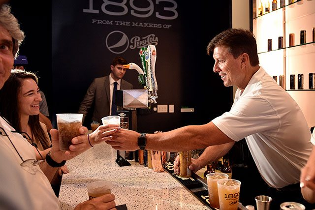 Tino Martinez Serving Cocktails