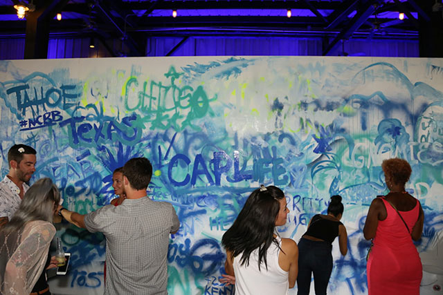 Bacardí Portfolio Party Interactive Painting Wall - Tales of the Cocktail 2017