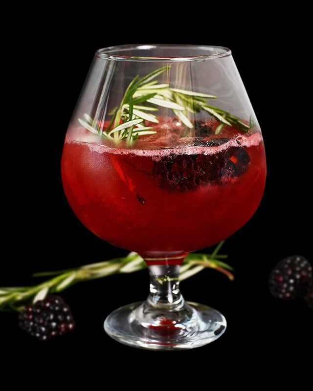 Gin #01 Blackberries Rosemary at Rusty Pelican