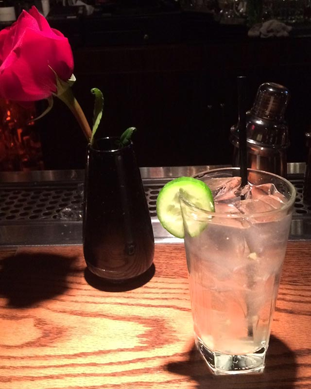 Gin Cooler at Brentwood Restaurant and Lounge