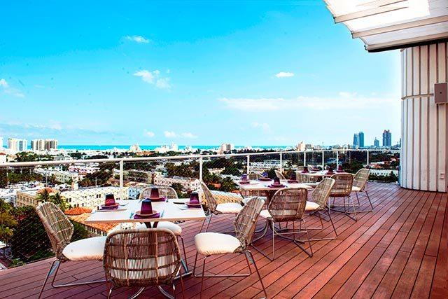 Juvia Miami rooftop
