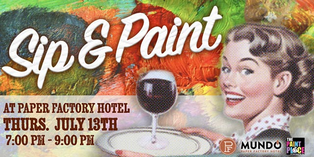 Sip Paint at the Paper Factory Hotel