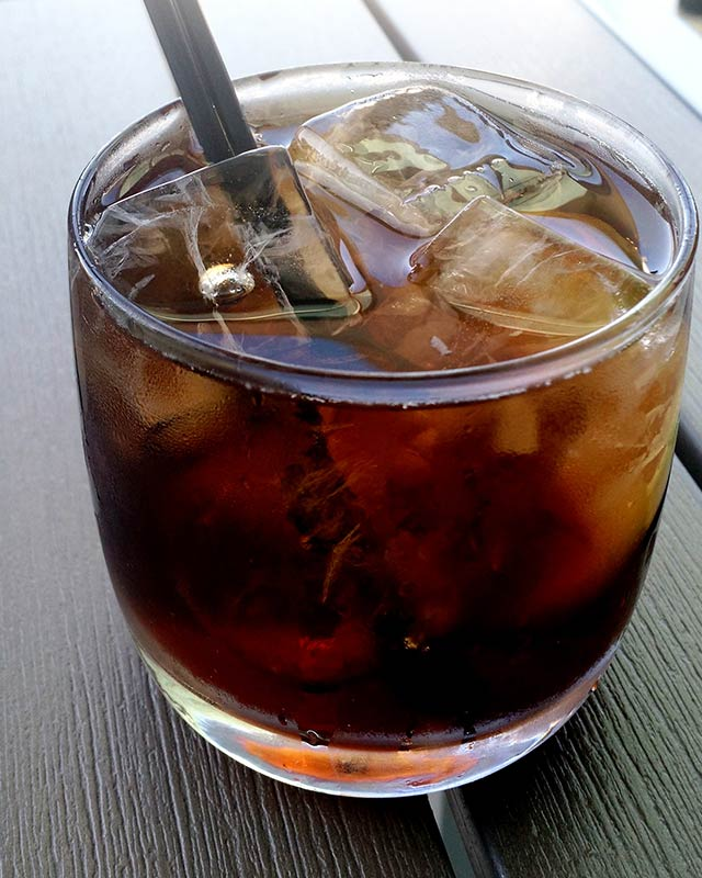 Smoked Rum and Coke Cocktail Artisan Beach House Miami