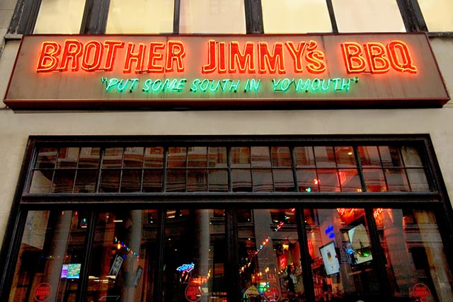 Brother's Jimmy's BBQ Upper East Side Carolina Panther's Bar