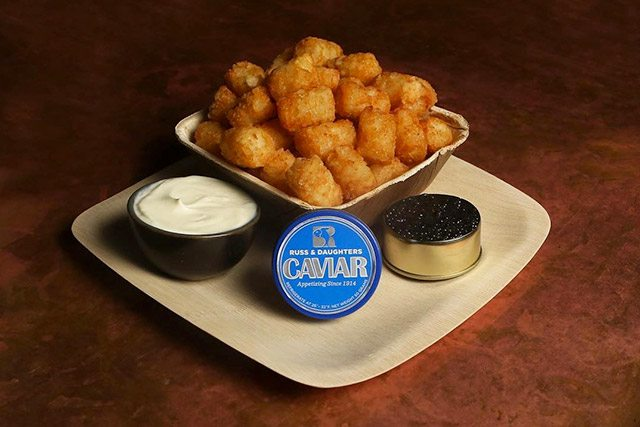 Russ and Daughters Caviar Tater Tots