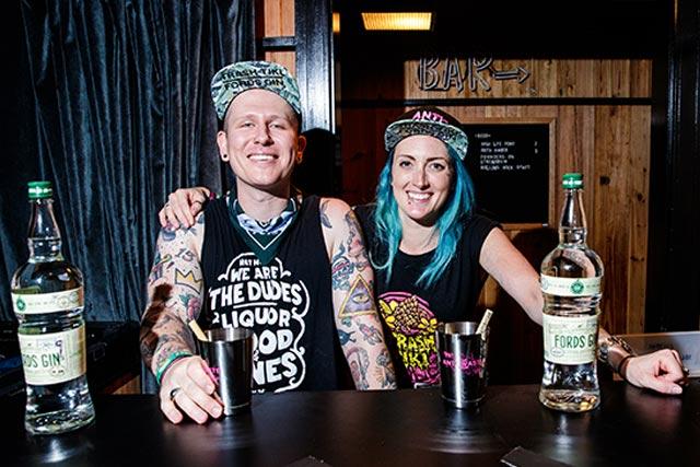 Trash Tiki Founders Iain Grffiths and Kelsey Ramage Anti-Waste Tour