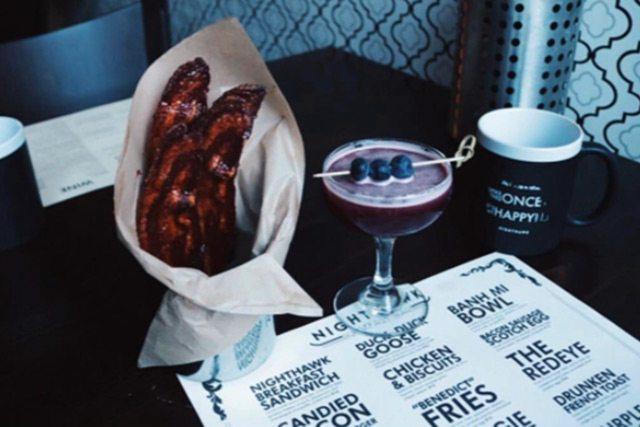 Bitter Blues Jam Cocktail at Nighthawk Breakfast Bar Los Angeles