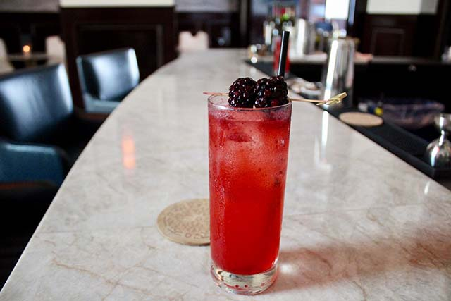 Blackberry Gin Collins