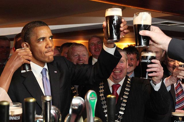 Drinking a Beer with President Barack Obama