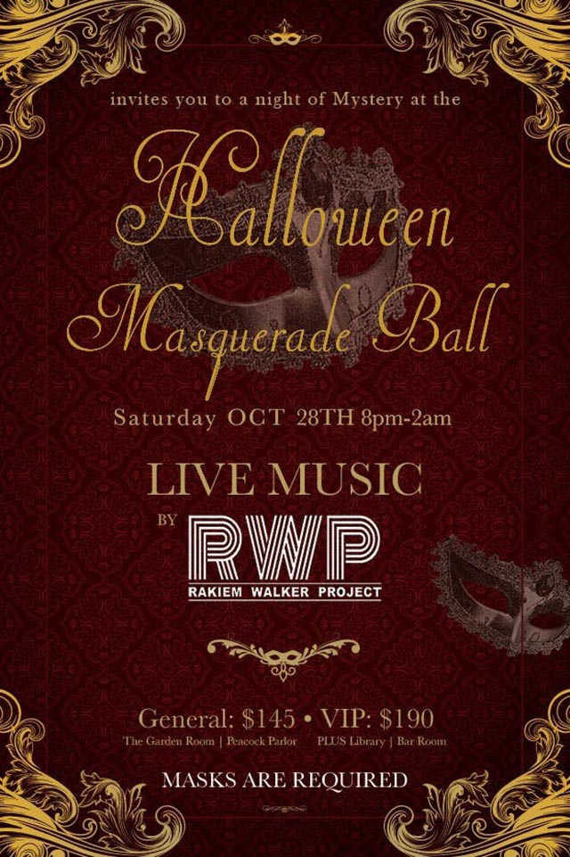 Raines Law Room's Halloween Masquerade Ball at the William