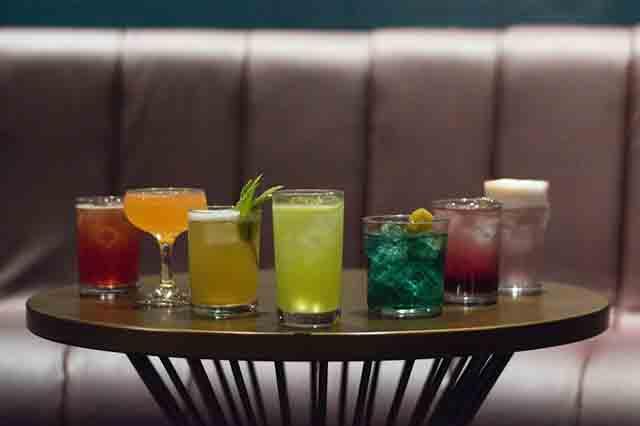 Blue Light cocktails