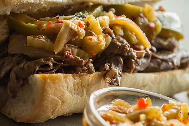 Al's Beef Italian Beef Sandwich - Chicago local Cuisine