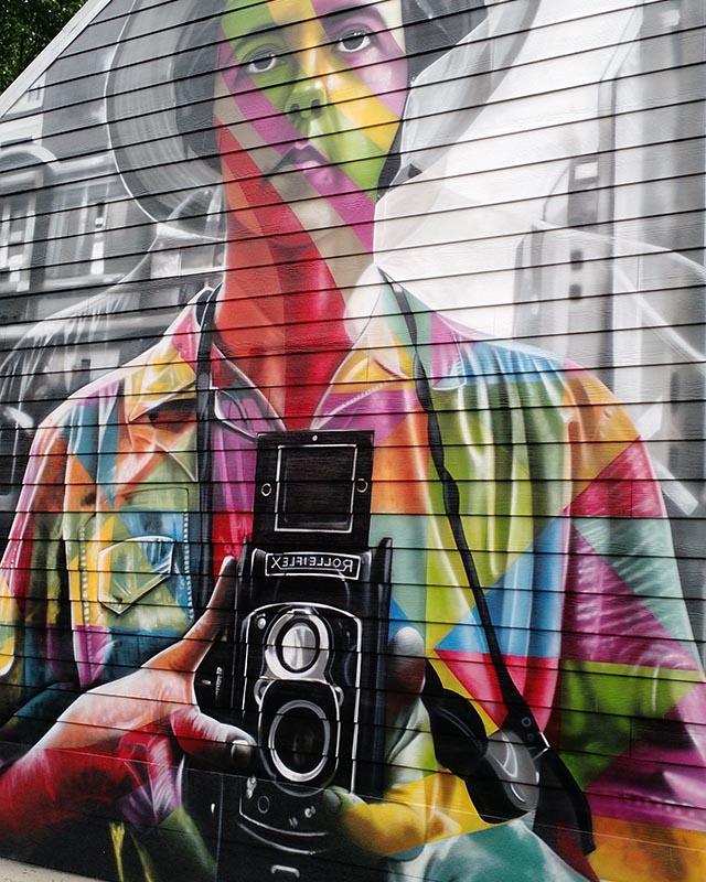 Vivian Maier Mural Street Art
