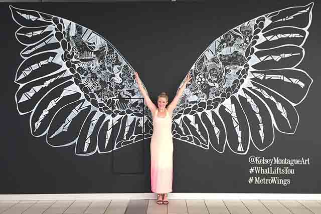 art-and-cocktail-guide-art-basel-miami-2017-event-viral-angel-wings-mural-pieces-by-artist-kelsey-montague-at-art-basel-art-tent-nautilus-hotel