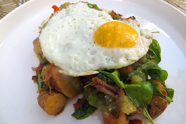 brunch-at-three-restaurant-miami-wynwood-duck-confit-hash