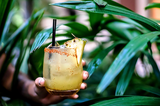 Miami Grilled Pineapple Margarita at Makoto   Margaritas to Try Now in Miami