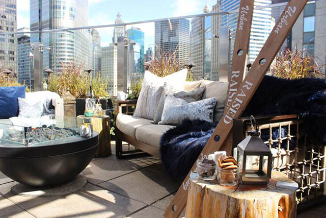 All The Boozy Hot Cocktails At Raised Urban Rooftop Bar In Chicago