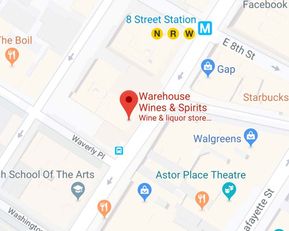 Warehouse Wine & Spirts NoHo